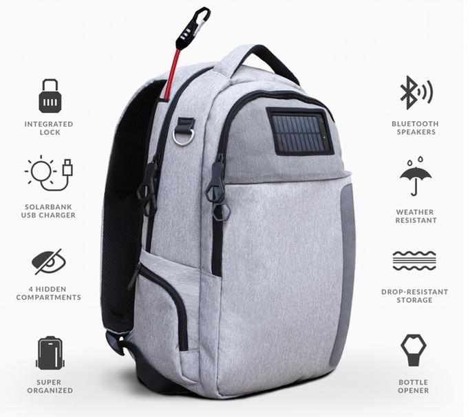 Рюкзак с солнечной панелью роза рюкзак школьный