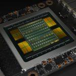 Отрисованное изображение графического чипа NVIDIA Volta