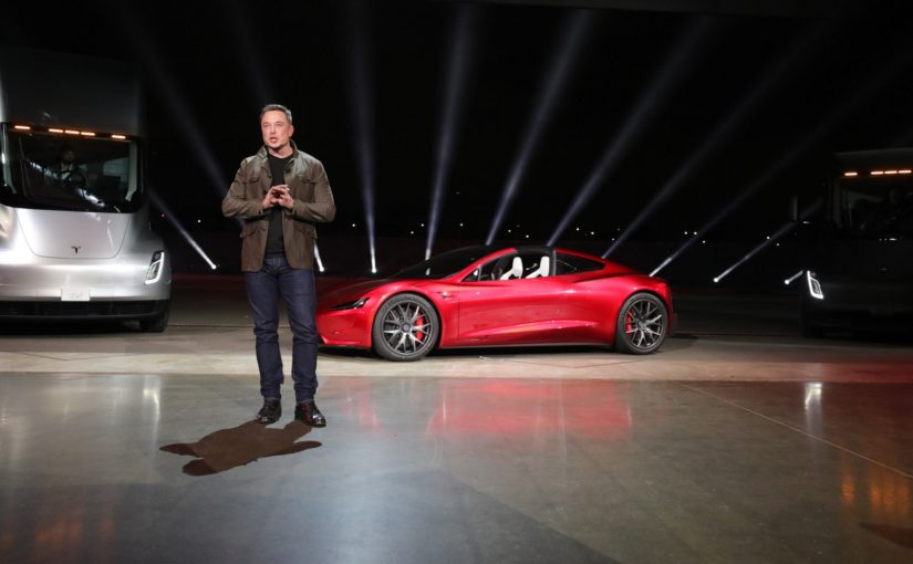 Стоп-кадр из презентации грузовиков Tesla Илона Маска