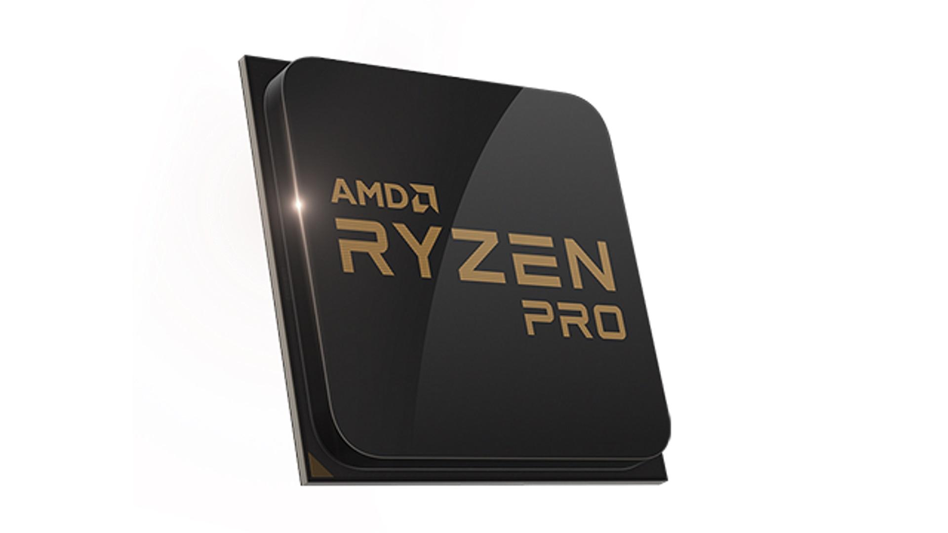Рендер настольного процессора Ryzen PRO