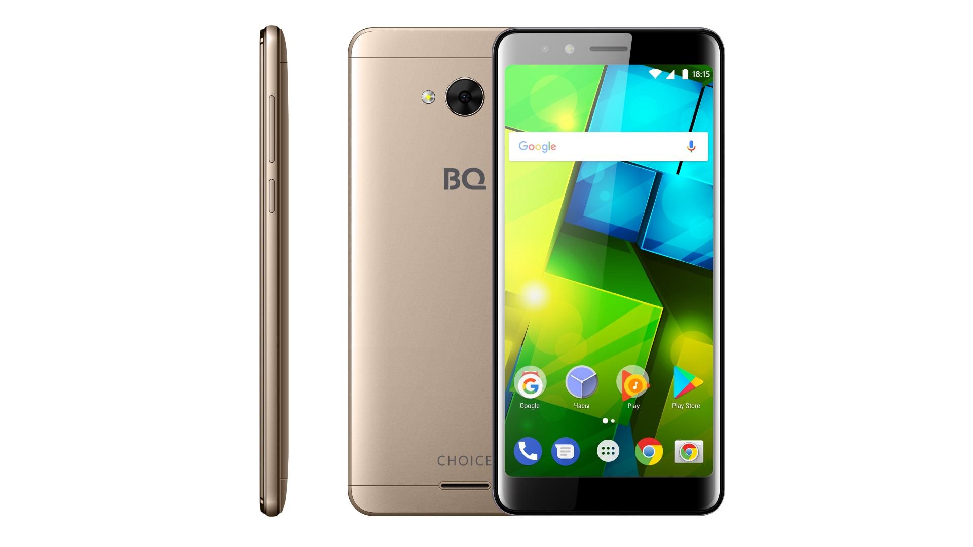 BQ представляет самый доступный безрамочный смартфон в линейке – BQ-5340 Choice