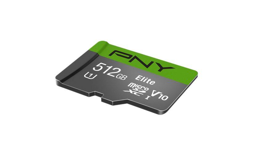 Первая в мире карта microSDXC на 512 Гбайт представлена PNY