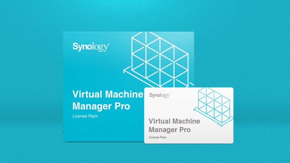 Иллюстрация лицензий на Virtual Machine Manager Pro, профессионального сервиса управления виртуальными машинами от компании Synology