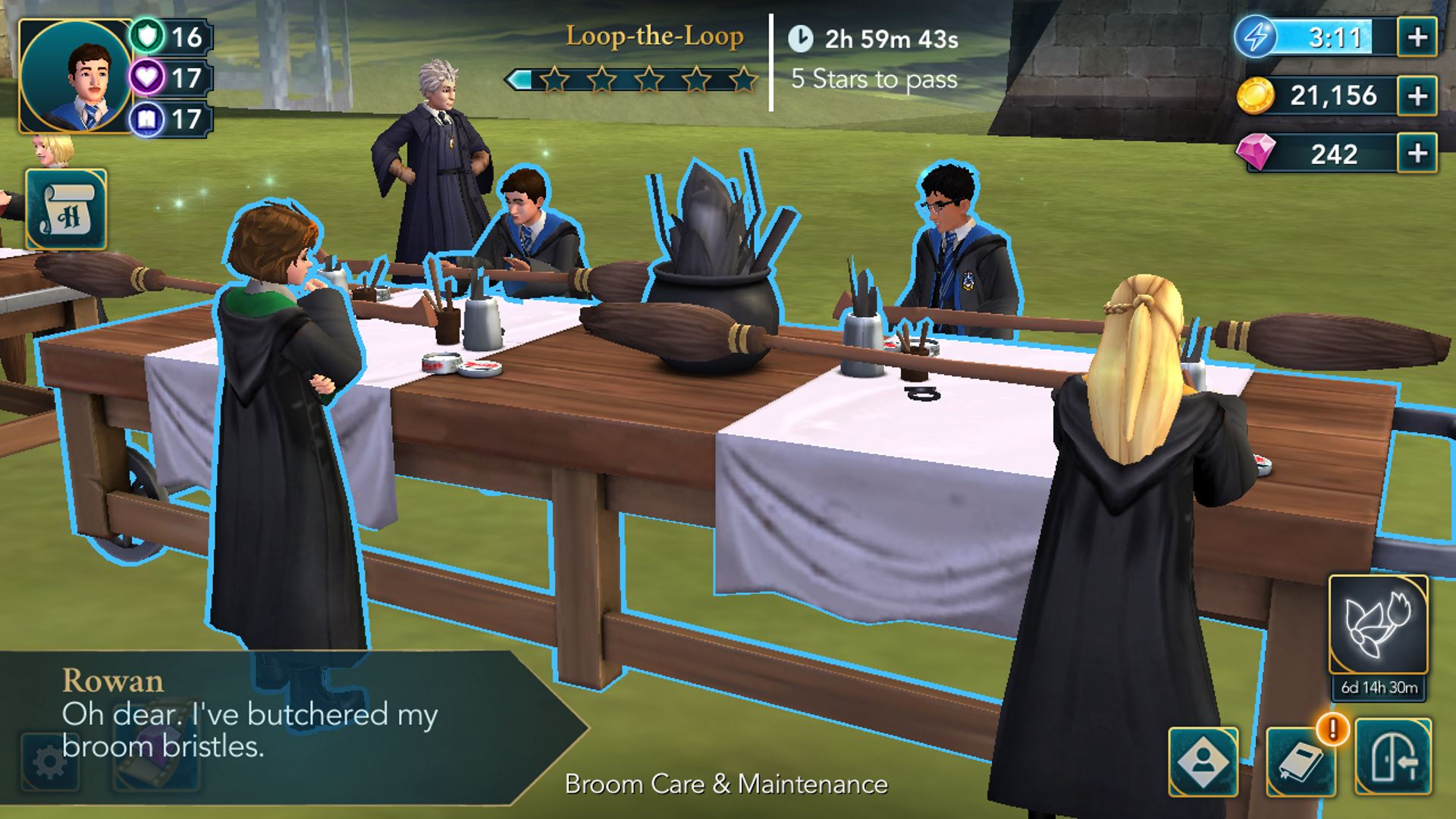 Снимок экрана из игры Harry Potter Hogwarts Mystery