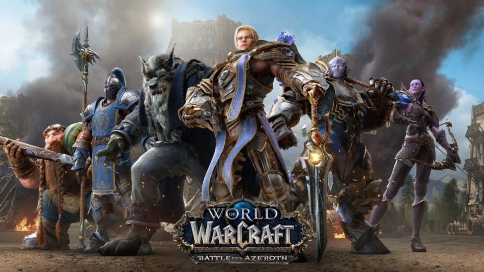 Постер дополнения World of Warcraft: Battle for Azeroth, на котором изображены главные персонажи