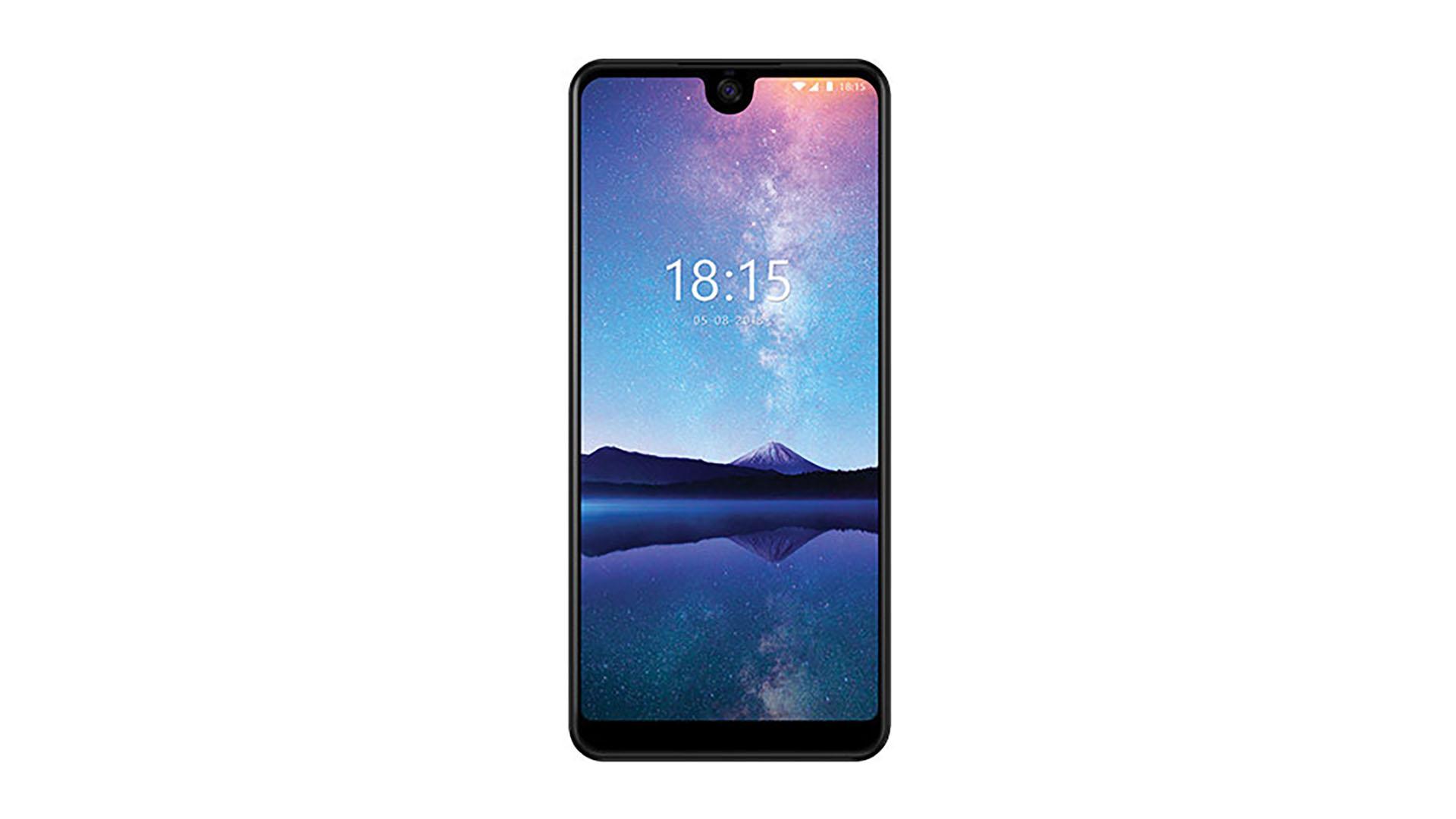 Рендер смартфона BQ Universe BQ–6015L и экранного выреза обоих цветов с видом спереди