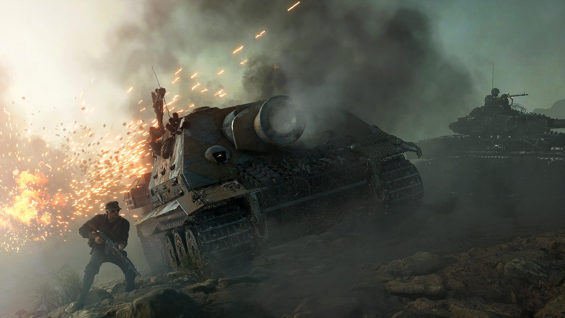 На иллюстрации снимок экрана из игры Battlefield V — изображена техника из игры