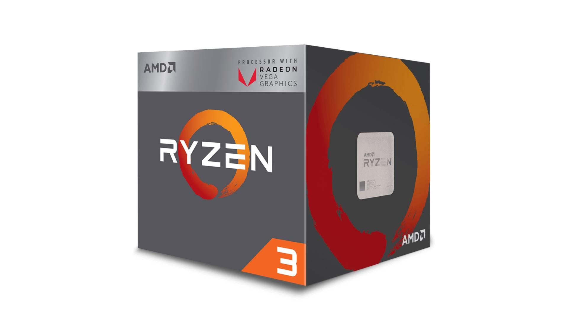На иллюстрации изображен рендер коробочной версии процессора AMD Ryzen 3 2200G с видом сбоку