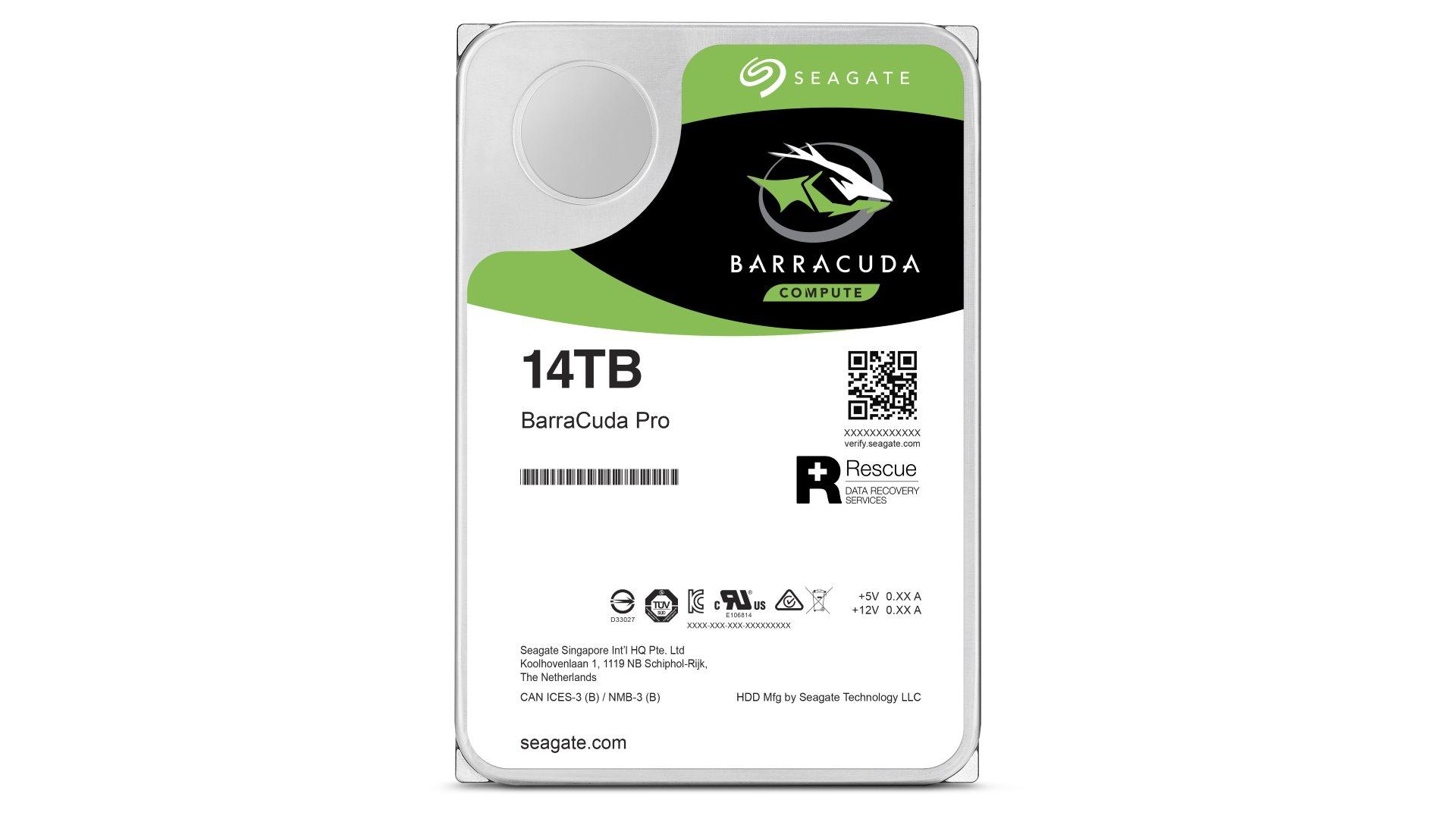 На иллюстрации изображён жёсткий диск Seagate Barracuda в профиль
