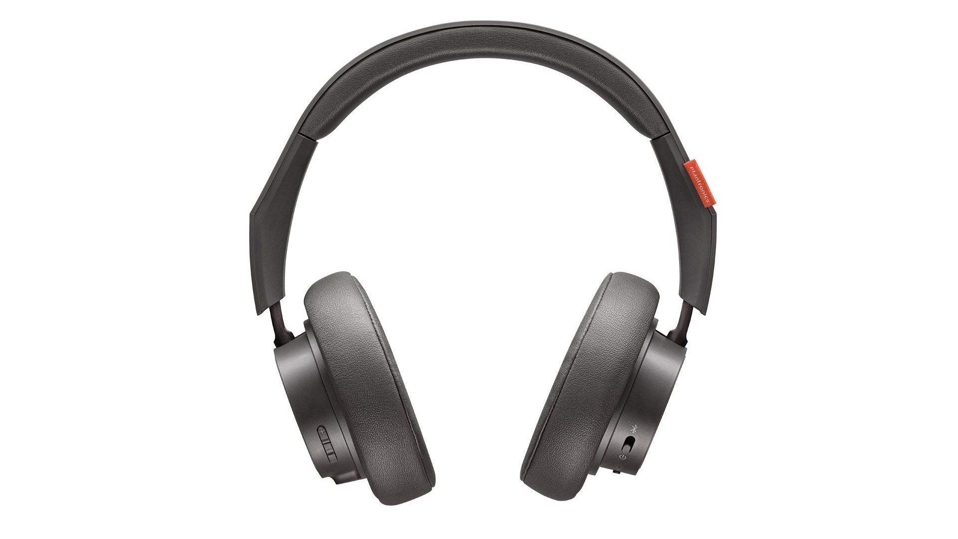 На иллюстрации изображена беспроводная гарнитура Plantronics BackBeat GO 600 серого цвета под углом