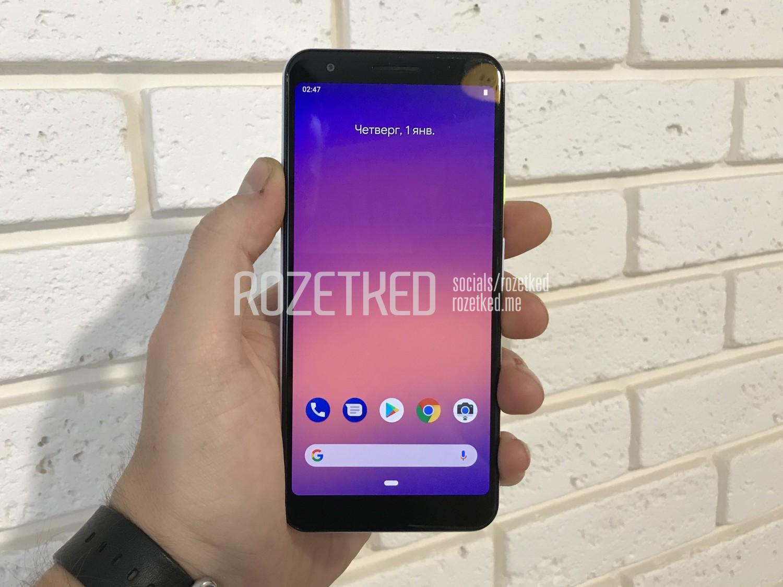 На иллюстрации изображён смартфон Google Pixel 3 Lite с видом спереди