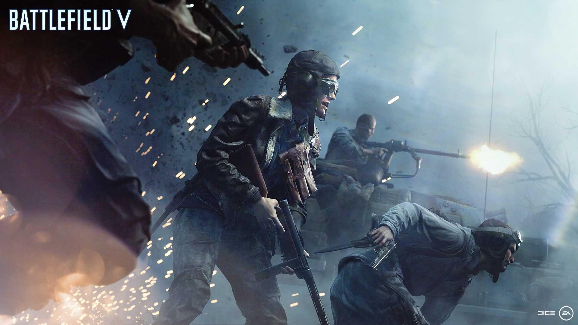 На иллюстрации изображена сцена из игры Battlefield V: бойцы игрока рвутся на поля сражений