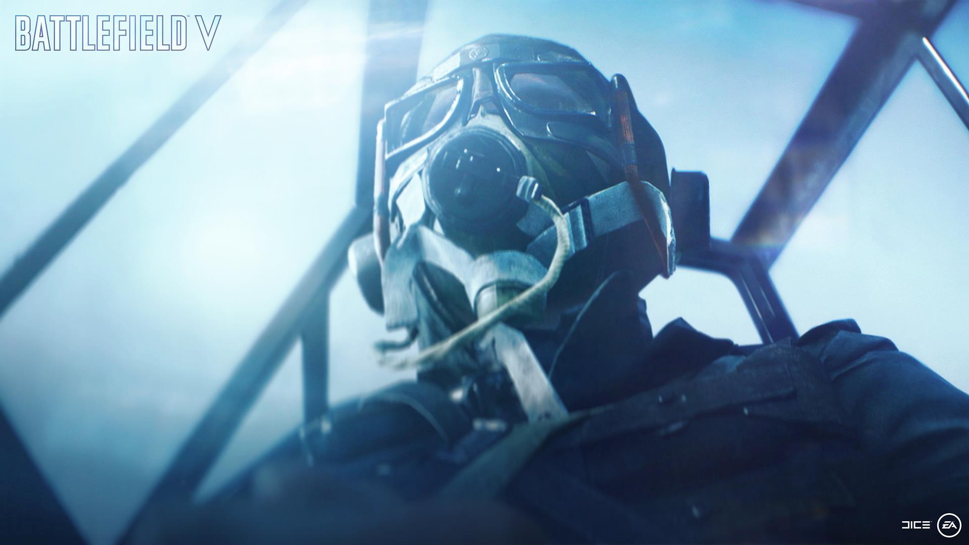 На иллюстрации изображён снимок экрана (скриншот) из пролога к одиночной кампании Battlefield V, состоящей из нескольких «Военных историй»