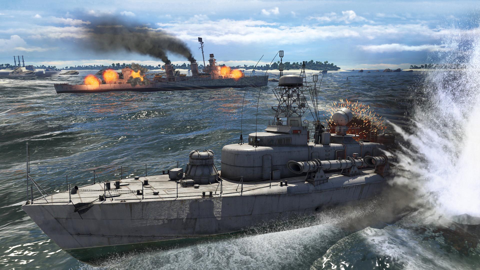 есть ли в war thunder корабли